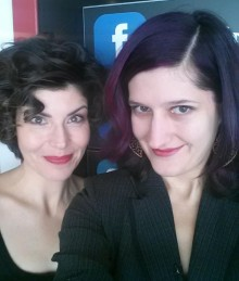 Jess and Annie take a selfie at tvRogers Ottawa